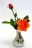 Rose en florero Fotos de archivo libres de regalías