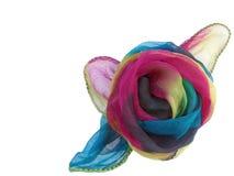 Rose en soie Photographie stock libre de droits