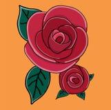 Rose en un fondo negro Imágenes de archivo libres de regalías