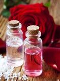 Rose Essence Bottles Imágenes de archivo libres de regalías