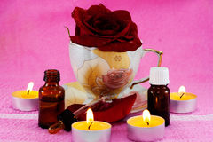 Rose essential oil Royalty Free Stock Photo