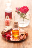 Rose essential oil Royalty Free Stock Images