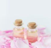 Rose essential oil Stock Images
