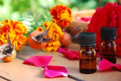 Rose and essential oils Royalty Free Stock Photo