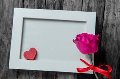 Rose et amour Image libre de droits