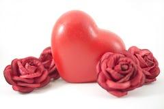 Rose et coeur Photographie stock libre de droits