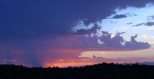 Rose et coucher du soleil de Purpole Images stock
