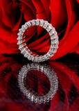 Rose et diamant Photo stock