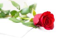 Rose et enveloppe Photo libre de droits
