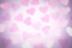 Rose et fond romantique lilas de coeurs Images libres de droits