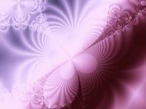 Rose et fractale pourprée de remous Images stock