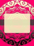 Rose et gris de style de la couverture 70s d'Ebook avec la fenêtre rose Photos libres de droits