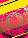 Rose et jaune de style de la couverture 70s d'Ebook avec la fenêtre rose Image libre de droits