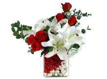 Rose et lis rouges Image libre de droits