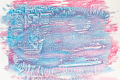 Rose et mélange bleu de l'espace libre de vernis à ongles Images stock