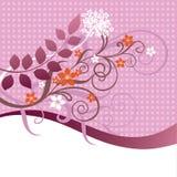 Rose et ornement floral orange illustration de vecteur
