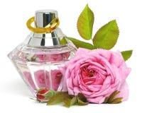 Rose et parfum Photo stock