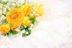 Rose et perle Images libres de droits