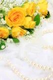 Rose et perle photo stock
