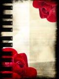 Rose et piano Photos libres de droits