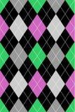 Rose et vert de configuration d'Argyle images libres de droits