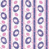 Rose et Violet Abstract Geometric Retro Pattern Illustration de Vecteur