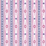 Rose et Violet Abstract Geometric Retro Pattern Image libre de droits