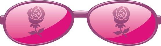 Rose färbte Gläser Stockfoto