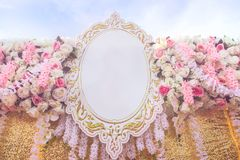 Rose fabric artificial wedding flowers backdrop decoration Stock Photo