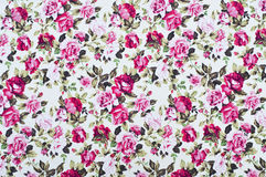 Rose on fabric as background Royalty Free Stock Image