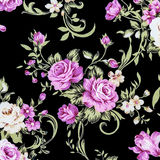 Rose Fabric background, Fragment of colorful retro tapestry text Stock Photography