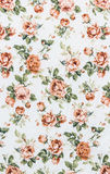Rose Fabric background, Fragment of colorful retro tapestry text Royalty Free Stock Images