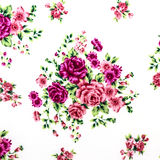 Rose Fabric background, Fragment of colorful retro tapestry text Royalty Free Stock Photography
