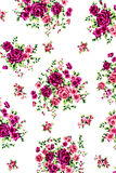 Rose Fabric background, Fragment of colorful retro tapestry text Stock Photos