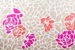 Rose fabric background Stock Photos