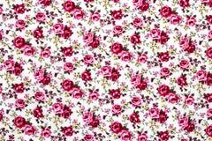 Rose Fabric, Rose Fabric-achtergrond, Fragment van kleurrijke retro Royalty-vrije Stock Foto