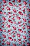 Rose Fabric, Rose Fabric-achtergrond, Fragment van kleurrijke retro Stock Foto