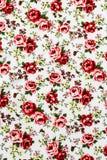 Rose Fabric Rose Fabric bakgrund, fragment av färgrikt retro Arkivbild
