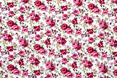 Rose Fabric, Rose Fabric-Hintergrund, Fragment von buntem Retro- Lizenzfreies Stockfoto