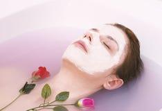 Rose Face Mask fotografia stock
