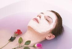 Rose face mask stock photography