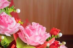 Rose a fait du tissu Image stock