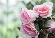 Rose false rosa Fotografia Stock Libera da Diritti