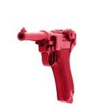 Rose fascinant rayé par pistolet D'isolement sur le fond blanc Photographie stock