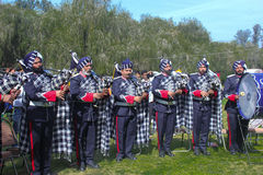 Rose Festival, Brass and pipe band competition, Chandigarh, India Stock Photo