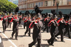 2014 Rose festival pervade. In Portland,Oregon. High shool band Royalty Free Stock Photography