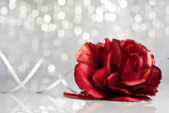 Rose with festive background Royalty Free Stock Images
