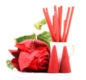 Rose a flairé les éléments aromatiques Images libres de droits