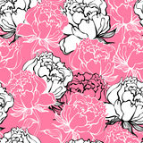 Rose fleurit le fond Image stock