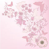 Rose floral background Stock Photo